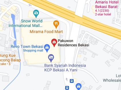 Pakuwon Residences Bekasi Maps